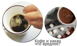Что вреднее кофе или какао?