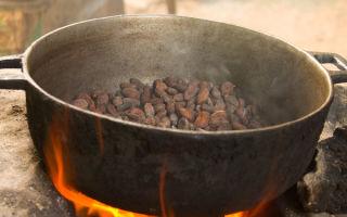 Термическая обработка какао бобов